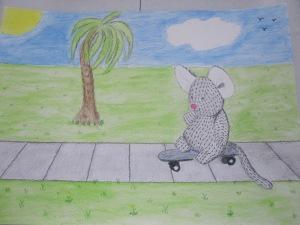 Sniffy Skateboarding